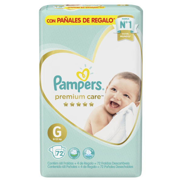 80678705 Pc Pampers Premium Care Gde 72 X 2 N