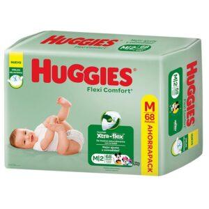 Pañales Huggies Flexi Comfort M X68