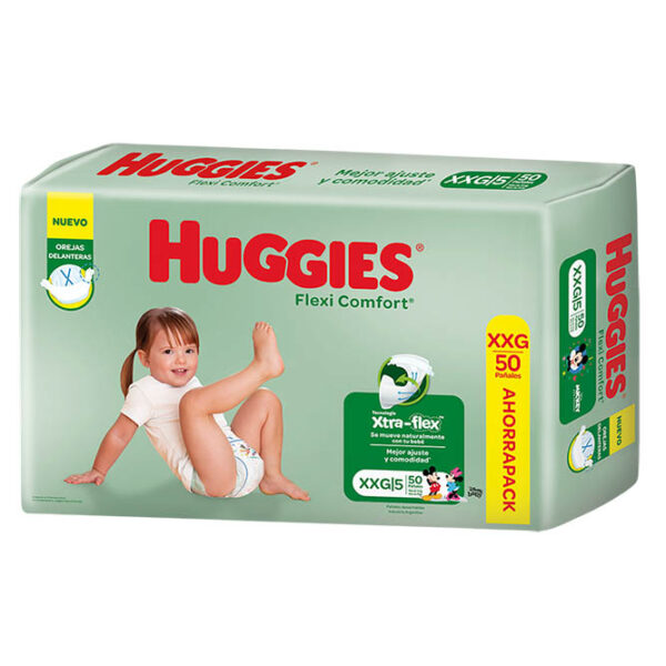 Pañales Huggies Flexi Comfort Xxg X50
