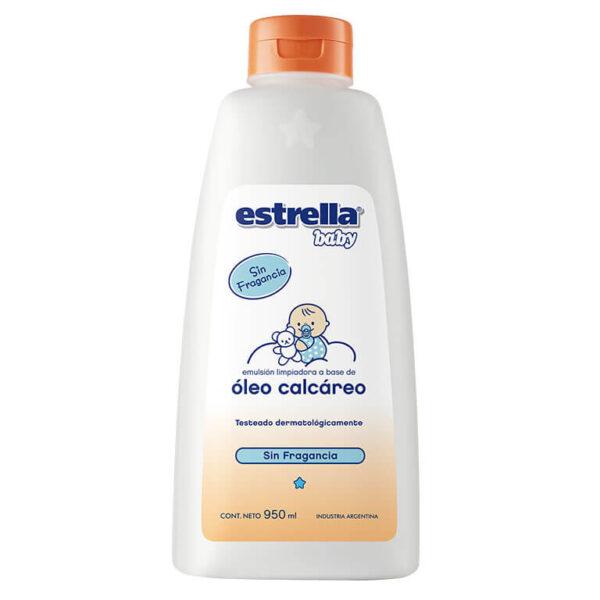 Oleo Calcareo Estrella Baby 950 Ml X 6 S/fragancia Con Extracto De Algodón