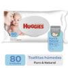 Toallas Húmedas Huggies Puro Y Natural X80