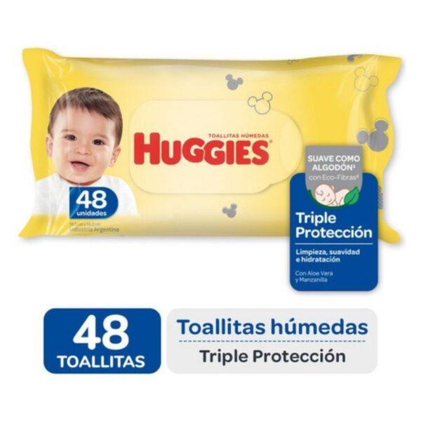 Toallas Húmedas Huggies Triple Proteccion X48