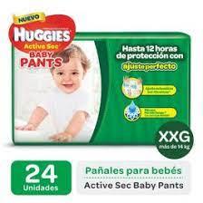 Pañales Huggies Active Sec Baby Pants Xxg X24