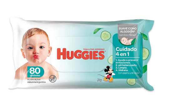 Toallas Húmedas Huggies 4 En 1 X80