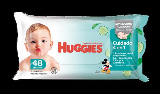 Toallas Húmedas Huggies 4 En 1 X48