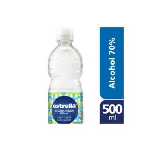 Alcohol Etilico 70% Santizante Estrella 24u X 500 Cc